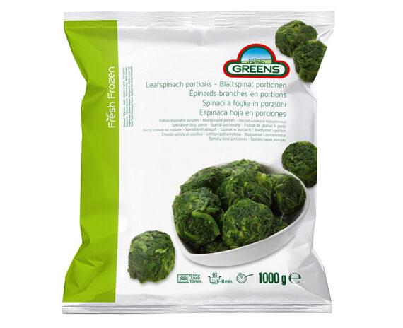 Busta di spinaci porzionati 1kg