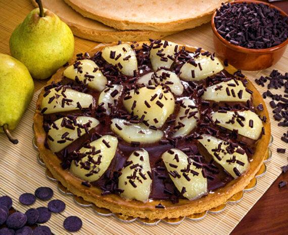 Crostata di pere e crema al cioccolato