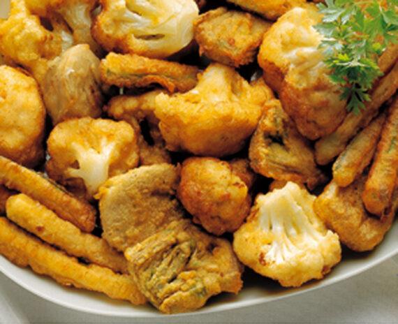Fritto misto di verdure pastellate